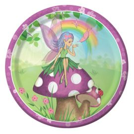 8 Platos Fancy Fairy 23 cm
