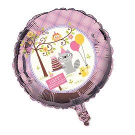 Balão Animais do Bosque Menina 45 cm