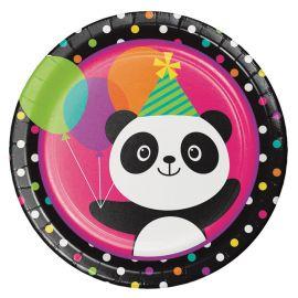 8 Pratos Panda 23 cm