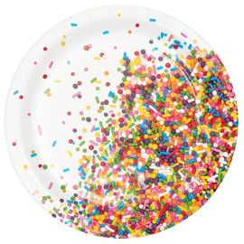 8 Pratos Sprinkles 18 cm