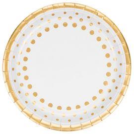 8 Pratos Sparkle Gold 23 cm