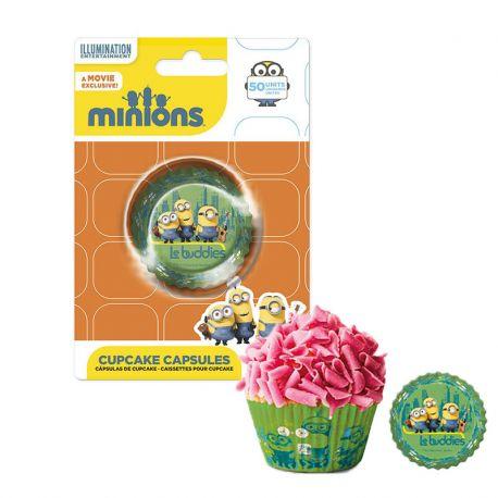 50 Cápsulas Minions para Cupcakes