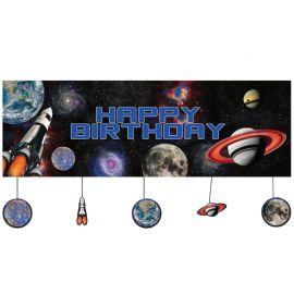 Pancarta Space Blast Personalizada 150 x 50 cm