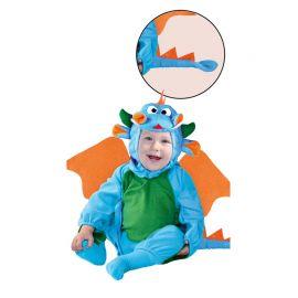 Fato Dragãocito Azul y Verde de Bebé