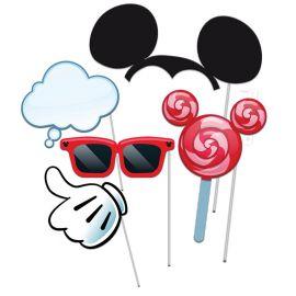5 Acessórios Mickey Mouse Photo Booth