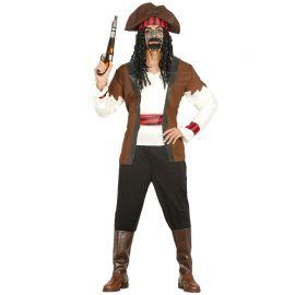 Fato de Pirata Siete Mares para Homem com Cinta de Cabeça