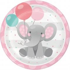 Anivesário Elefantezinho Cor de Rosa