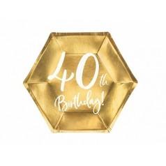 Cumpleaños 40 Dorado