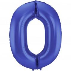 Balão Número Azul Fosco