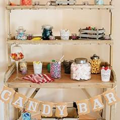 Candy Bar Rústico