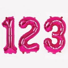 Balões Números Rosas