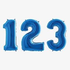 Balões Números Azuis