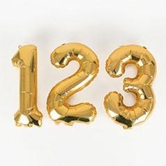 Balões Números Dourados