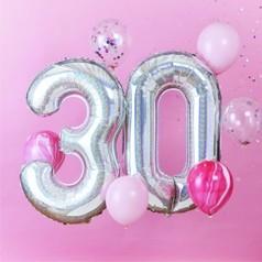 Globos 30 Cumpleaños