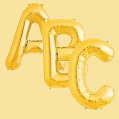 Balões Letras Douradas