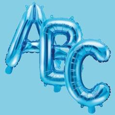 Balões Letras Azuis