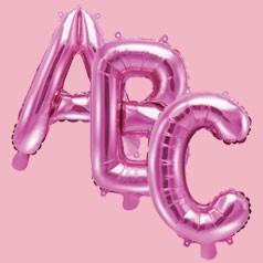 Balões Letras Rosas