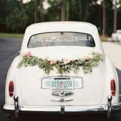 Decoração Carro de Casamento