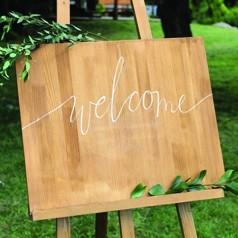 Cartaz Bienvenida Boda