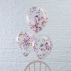 Balões com Confetes